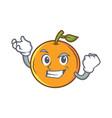 successful orange fruit cartoon character vector image vector image