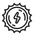 sun energy icon outline style vector image vector image