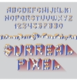 surreal cube alphabet vector image vector image