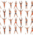 swimmer men engaged in sports swimming top view vector image