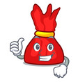 thumbs up wrapper candy character cartoon vector image