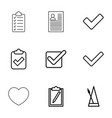 tick icons vector image vector image