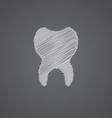 tooth sketch logo doodle icon vector image vector image