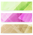 Triangular pattern web footer collection vector image vector image