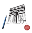 triumphal archHand drawn vector image vector image