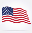 usa flag flying vector image vector image