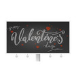 valentine day billboard with holidays lettering vector image vector image