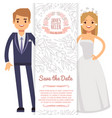 wedding banner template decorative flyer vector image vector image