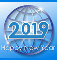 2019 happy new year background vector image vector image