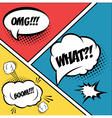 A set of comic bubbles and elements in pop artwith vector image vector image