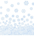 Abstract pattern of blue falling snowflakes vector image