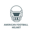 american football helmet line icon vector image
