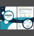 annual report template with geometric shapes vector image
