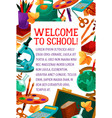 back to school education study poster vector image vector image