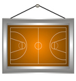Basketball platform in a frame vector image