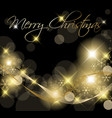 black and golden Christmas background vector image vector image