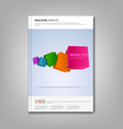 Brochures book or flyer with colorful abstract vector image vector image