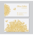 business card White background vector image