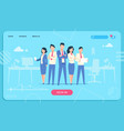 business characters web page flat office people vector image