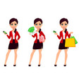 businesswoman cartoon character beautiful woman vector image