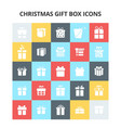 christmas gift box icons vector image