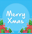 christmas with gift card style vector image