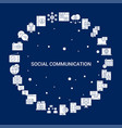 creative social communication icon background vector image