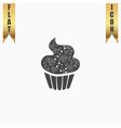 cupcake icon vector image vector image