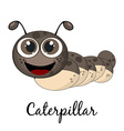 Cute caterpillar Cartoon Isolated on white vector image vector image