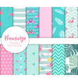 cute seamless flamingo pattern eps10 vector image vector image