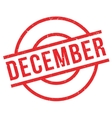 December rubber stamp vector image vector image