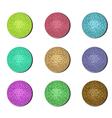 disco ball buttons vector image vector image