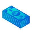 dollars icon isometric style vector image vector image