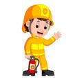 firefighter cartoon vector image