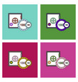 flat icon design collection safe and chips vector image vector image