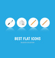 flat icon equipment set of drawing tool letter vector image vector image
