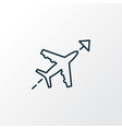 flight direction icon line symbol premium quality vector image vector image
