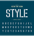 font and alphabet letter typeface and number vector image