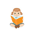 girl holding a book girl holding a book vector image