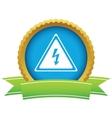 Gold voltage logo vector image