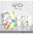 Greeting Card Design Template vector image