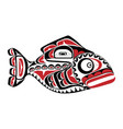 haida perch tattoo ornament in haida style isola vector image vector image