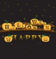 happy halloween jack o lantern pumpkins vector image