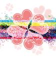 heart flower banner design vector image vector image