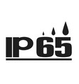 ip65 protection standard icon on white background vector image vector image