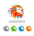 lion head logo design abstract logo vector image