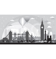 london skyline silhouette 5 vector image vector image