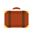 luggage bag icon flat style vector image vector image