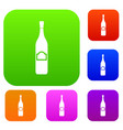 one bottle set color collection vector image vector image