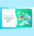 online education landing page website vector image vector image